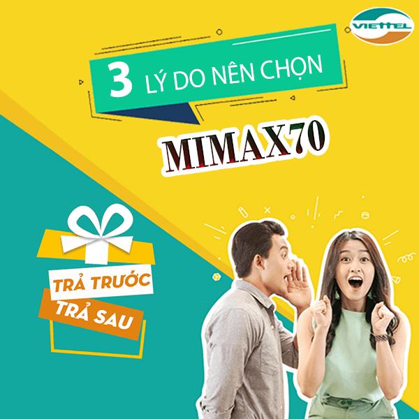 Cách đăng ký gói Mimax70 Viettel