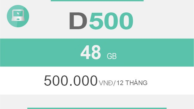 Gói cước D500 Viettel