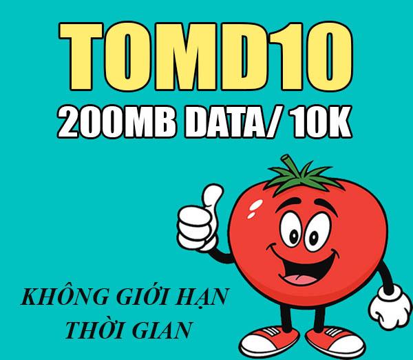 Gói cước TomD10 Viettel