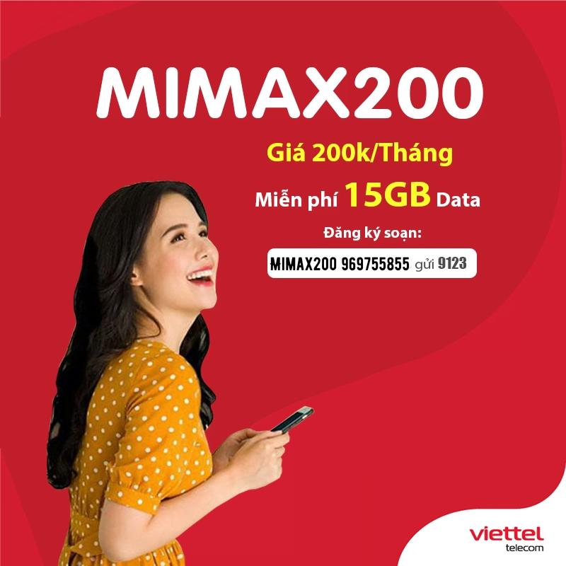 Cách đăng ký gói Mimax200 Viettel