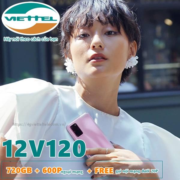Cách đăng ký gói 12V120 Viettel
