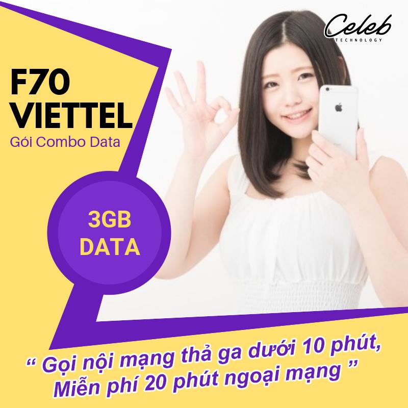 Cách đăng ký gói F70 Viettel