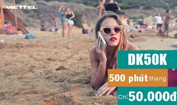 Cách đăng ký gói DK50 Viettel