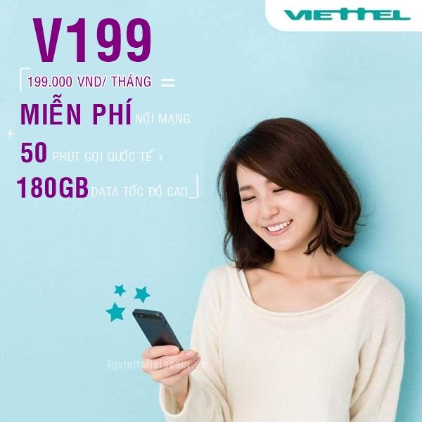Gói cước V199 Viettel
