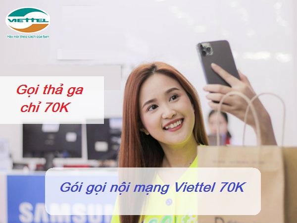 Đăng ký các gói 4G Viettel tháng 70K