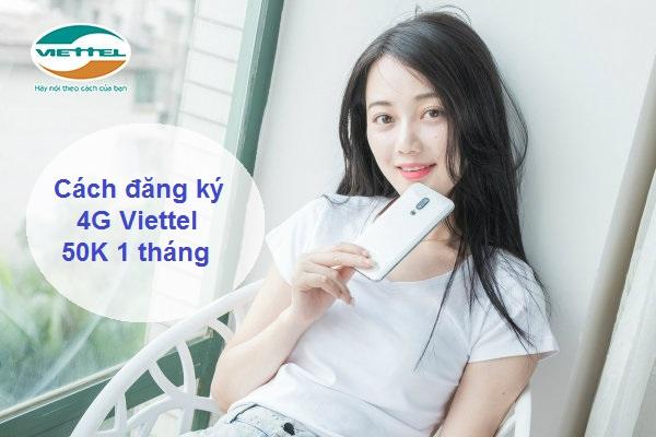 Đăng ký các gói 4G Viettel tháng 50K