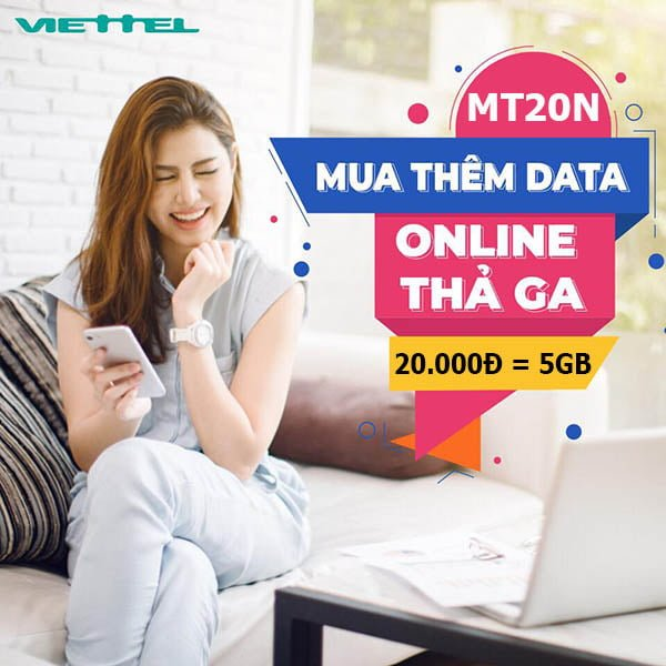 Cách đăng ký gói MT20N Viettel