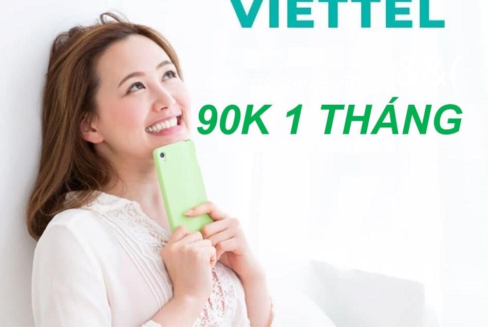 Đăng ký các gói 4G Viettel tháng 90k