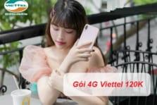 Đăng ký gói 4G Viettel tháng 120K