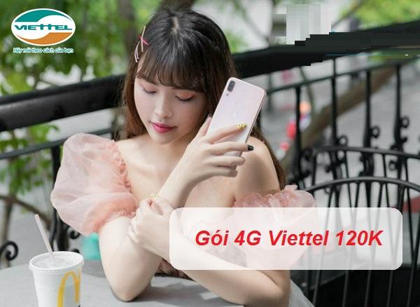 Gói 4G Viettel tháng 120k