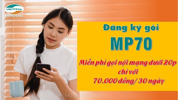 Cách đăng ký gói Mp70 Viettel