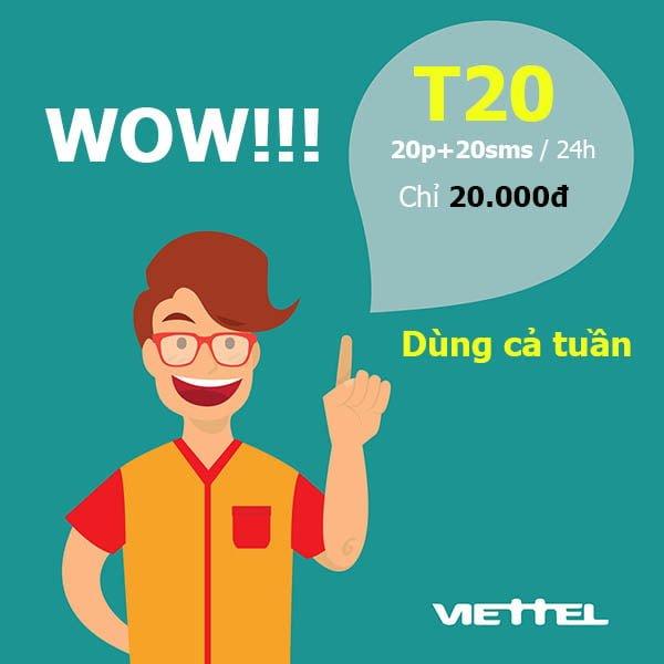 Gói cước T20 Viettel
