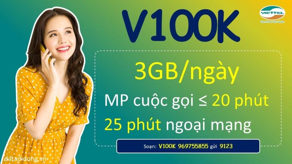 Cách đăng ký gói V100K Viettel