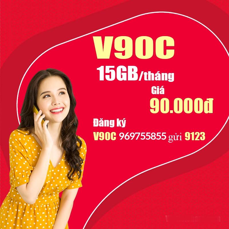 Cách đăng ký gói V90C Viettel nhận 15GB + miễn phí thoại và tiktok