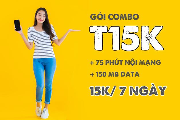 Đăng ký gói T15K Viettel có 75P + 150MB/ 7 ngày
