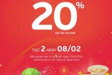 Viettel khuyến mãi 20% ngày 08/02/2021